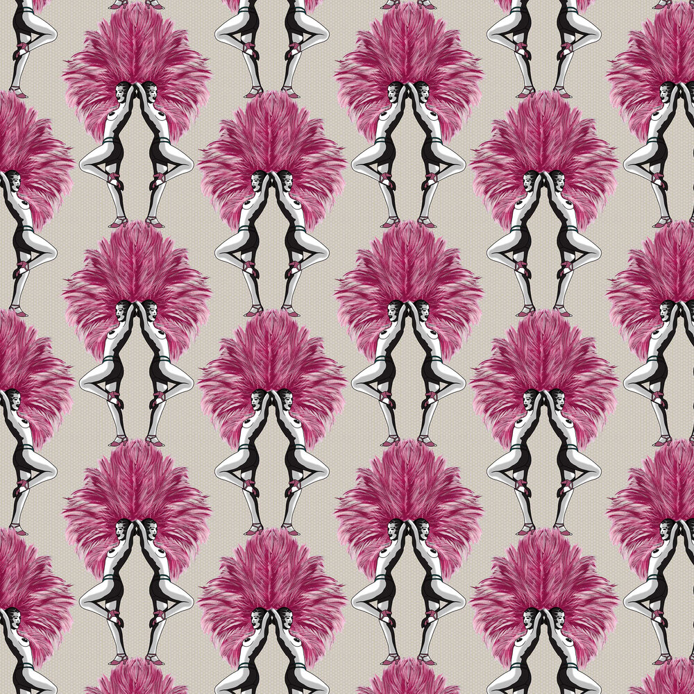Graduate Collection Showgirls Pink / Taupe Wallpaper - Product code: MS1SGWALTAUP