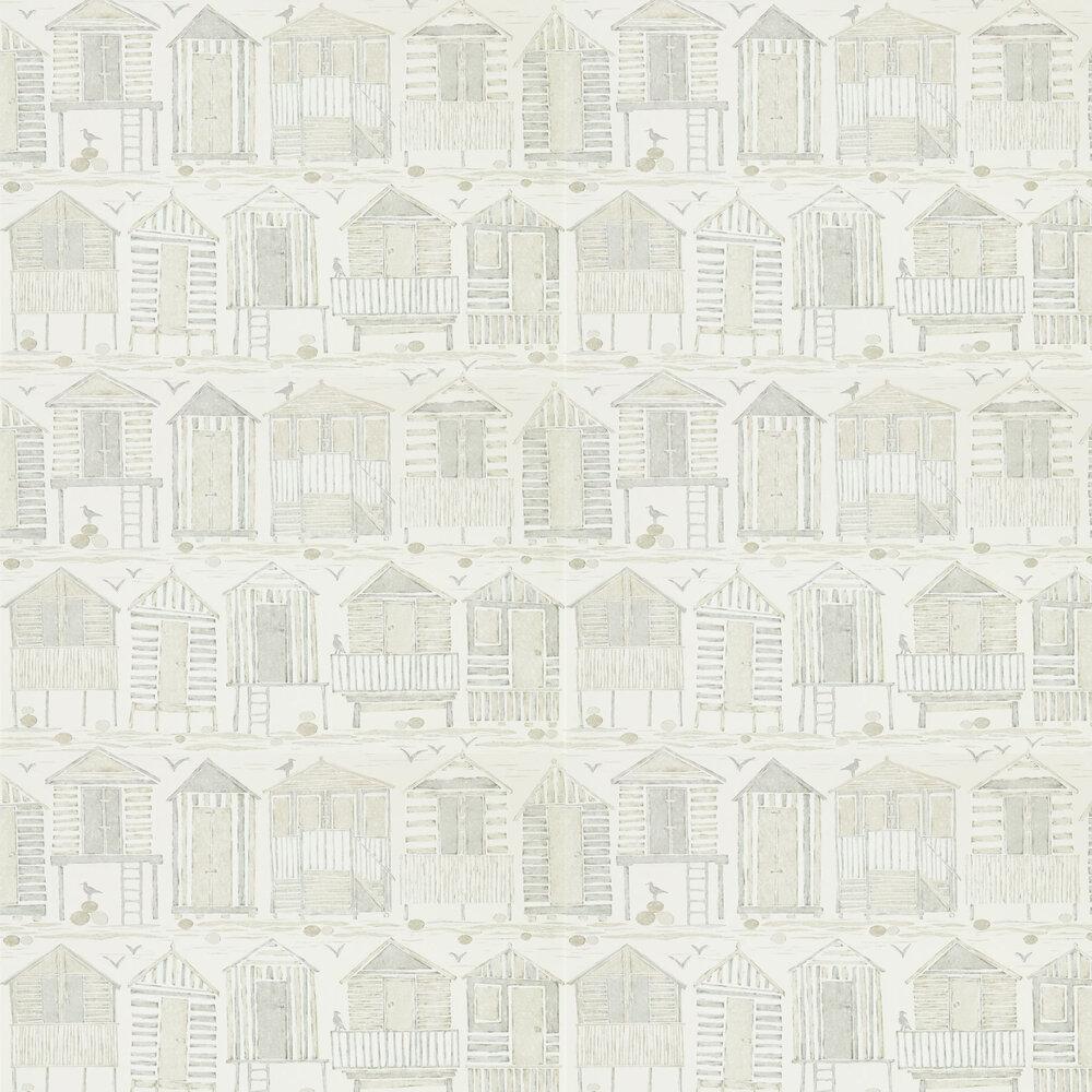 Beach Huts Wallpaper - Driftwood - by Sanderson