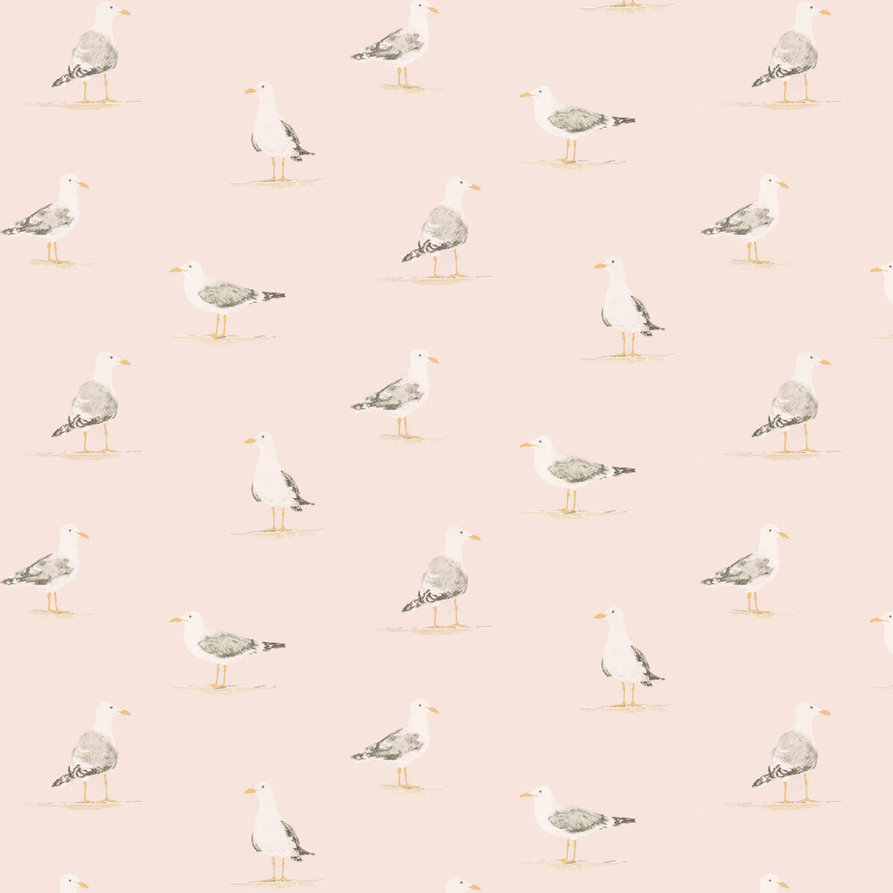 Shore Birds Wallpaper - Blush - by Sanderson