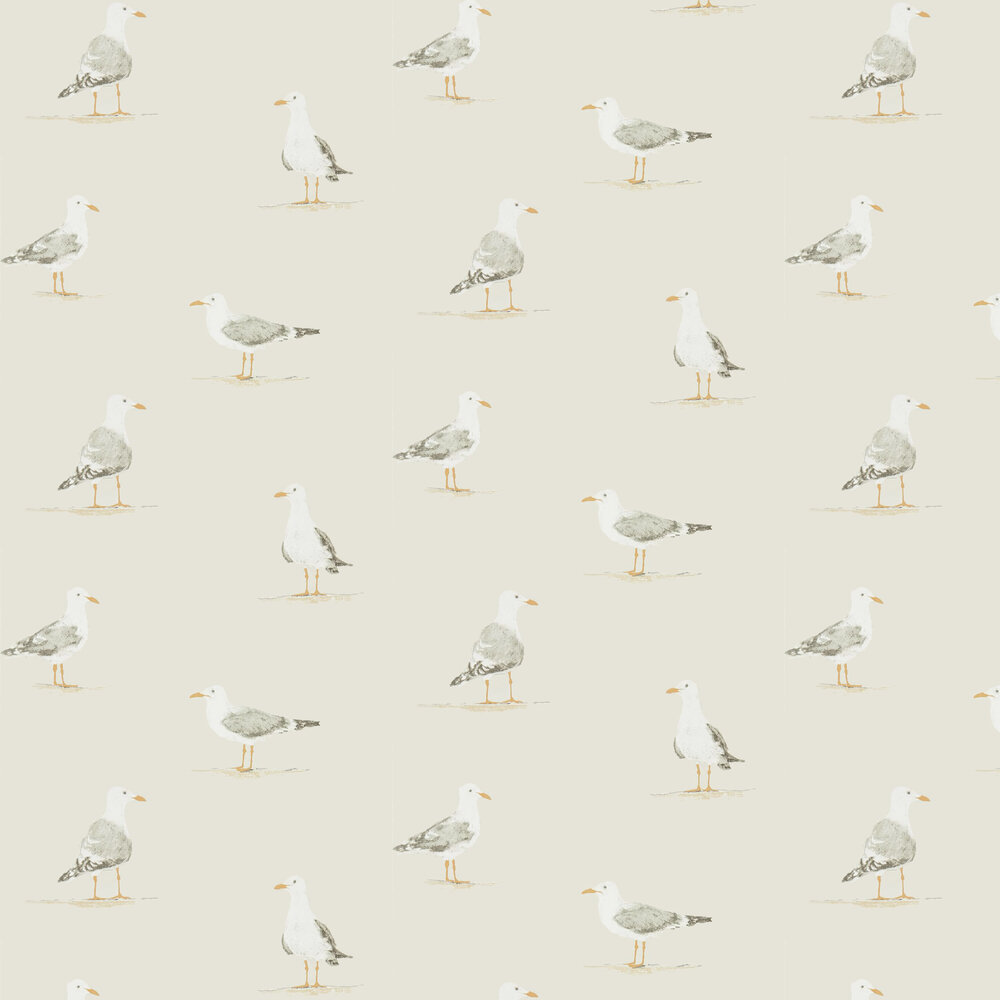 Shore Birds Wallpaper - Driftwood - by Sanderson