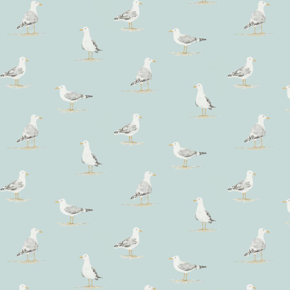 Shore Birds Wallpaper - Sky - by Sanderson