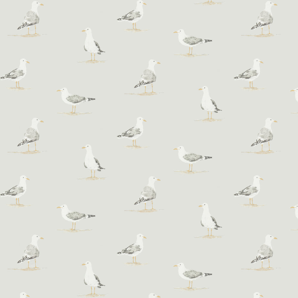 Shore Birds Wallpaper - Gull - by Sanderson
