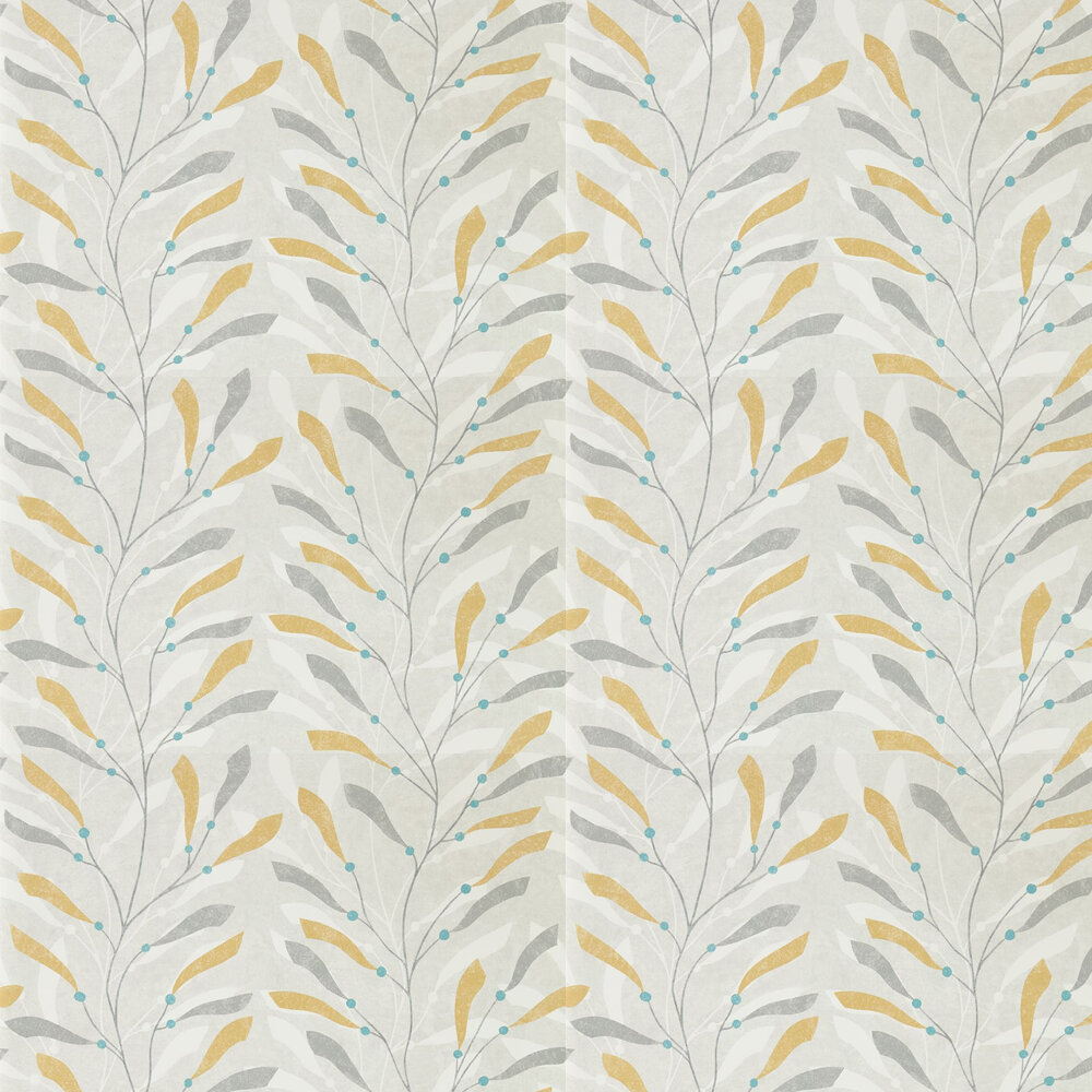Sanderson Sea Kelp Ochre / Slate Wallpaper - Product code: 216568