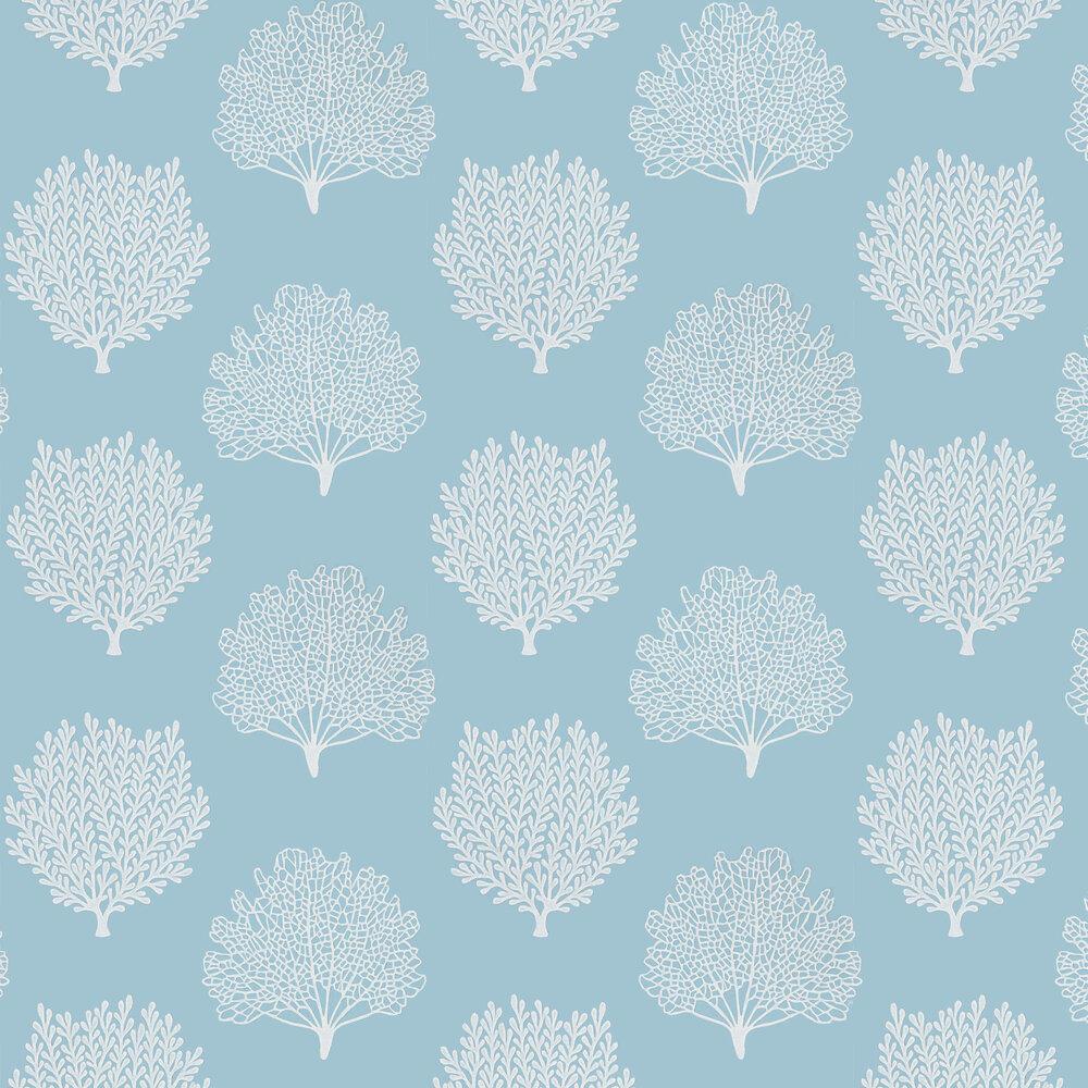 Coraline Wallpaper - Marine - by Sanderson