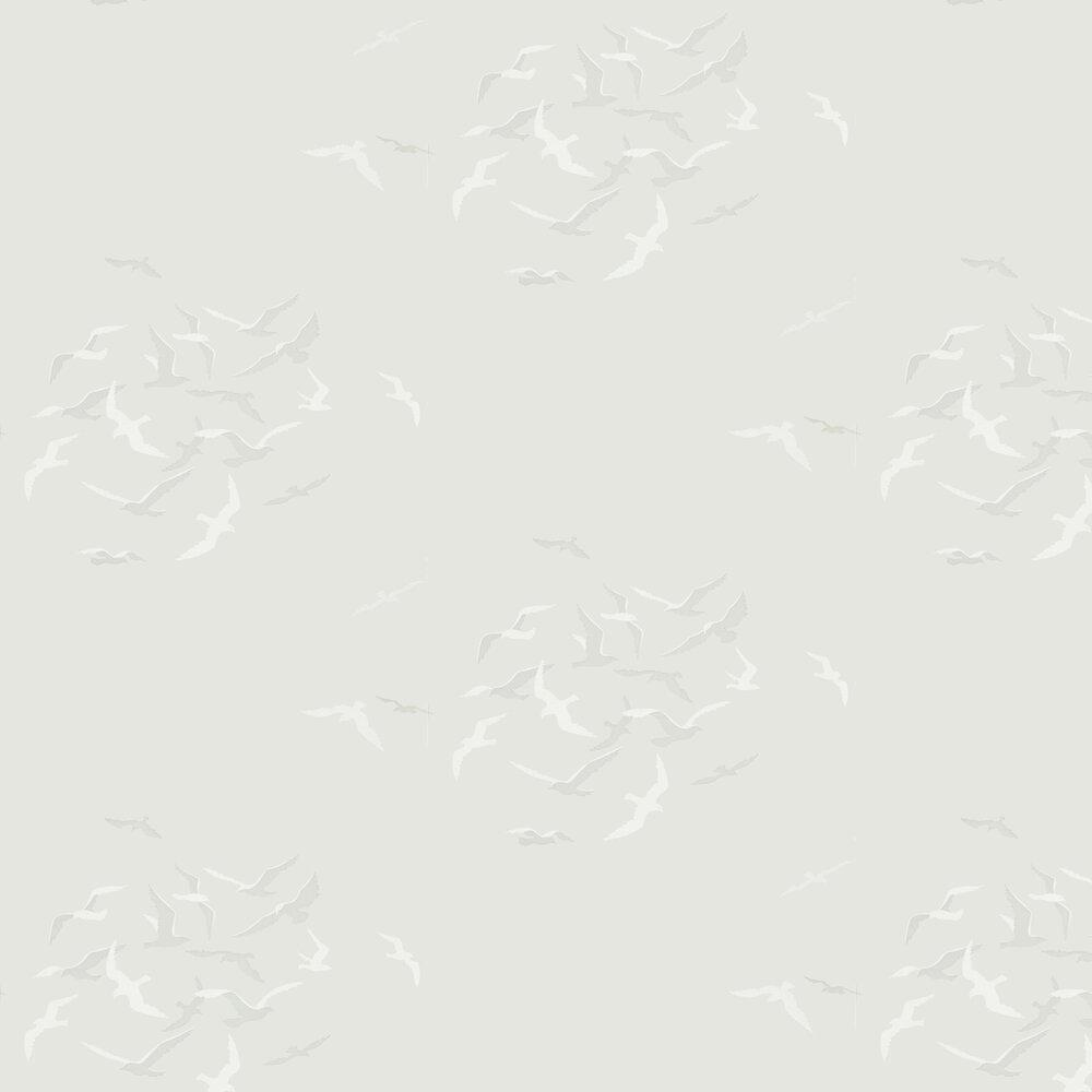 Larina Wallpaper - Gull - by Sanderson