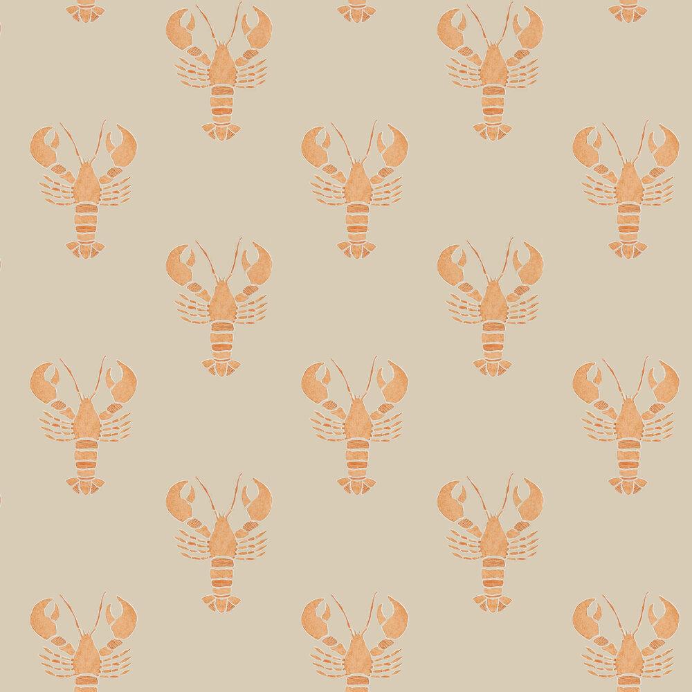 Cromer Wallpaper - Rust - by Sanderson