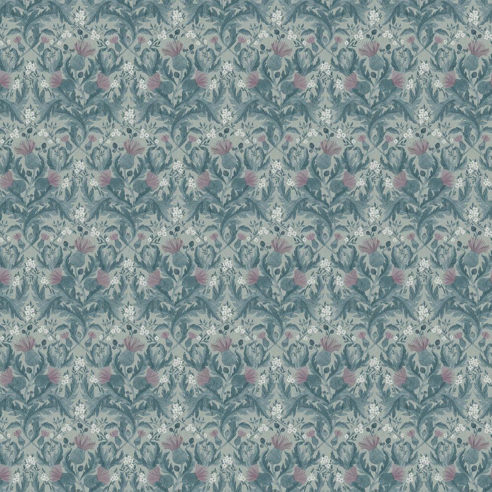 Boråstapeter Thistle Blue Wallpaper - Product code: 7204