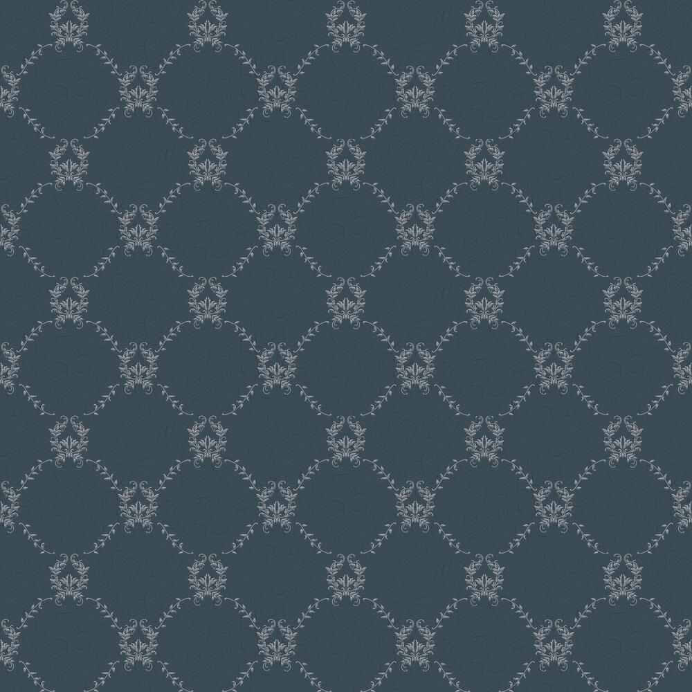 Hugo Wallpaper - Dark Blue - by Coordonne