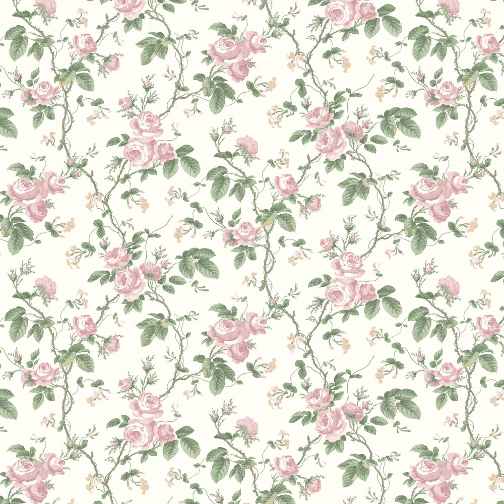 French Roses Wallpaper - Pink - by Boråstapeter