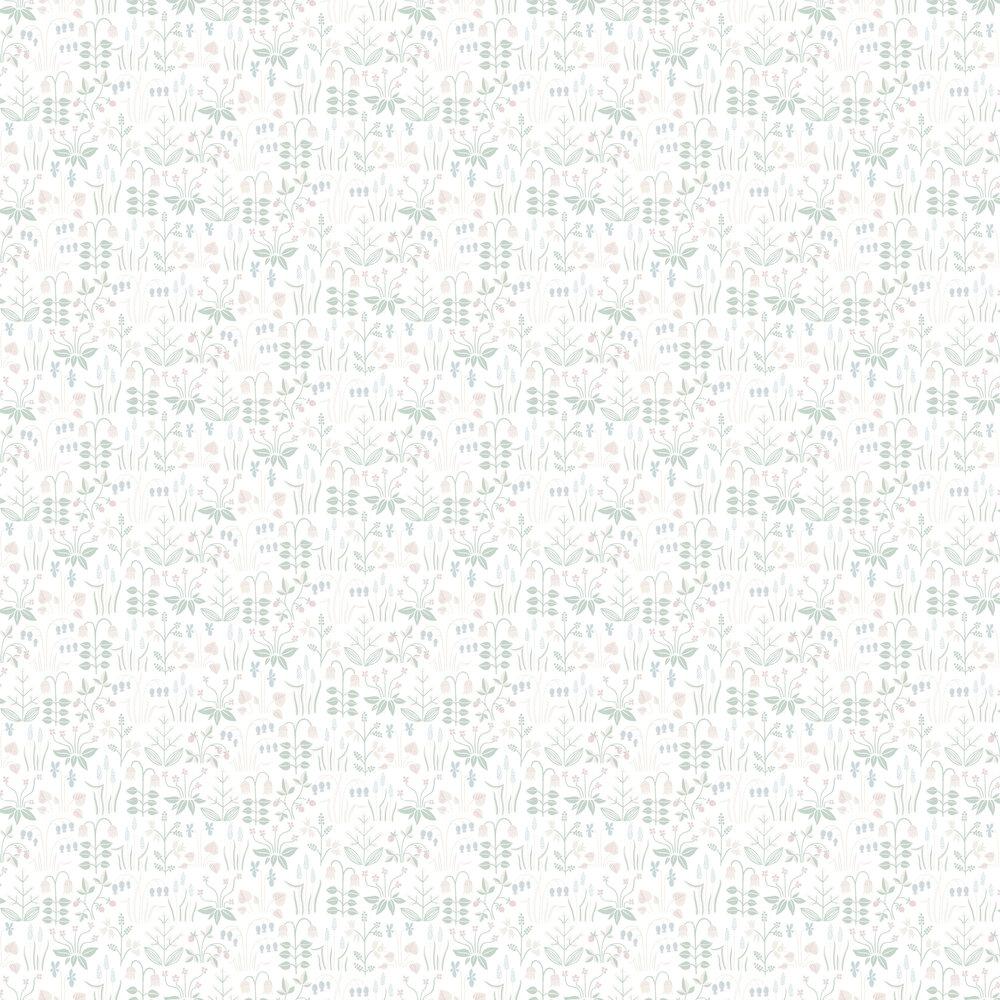 Boråstapeter Strawberry Field White / Multi Wallpaper - Product code: 7217
