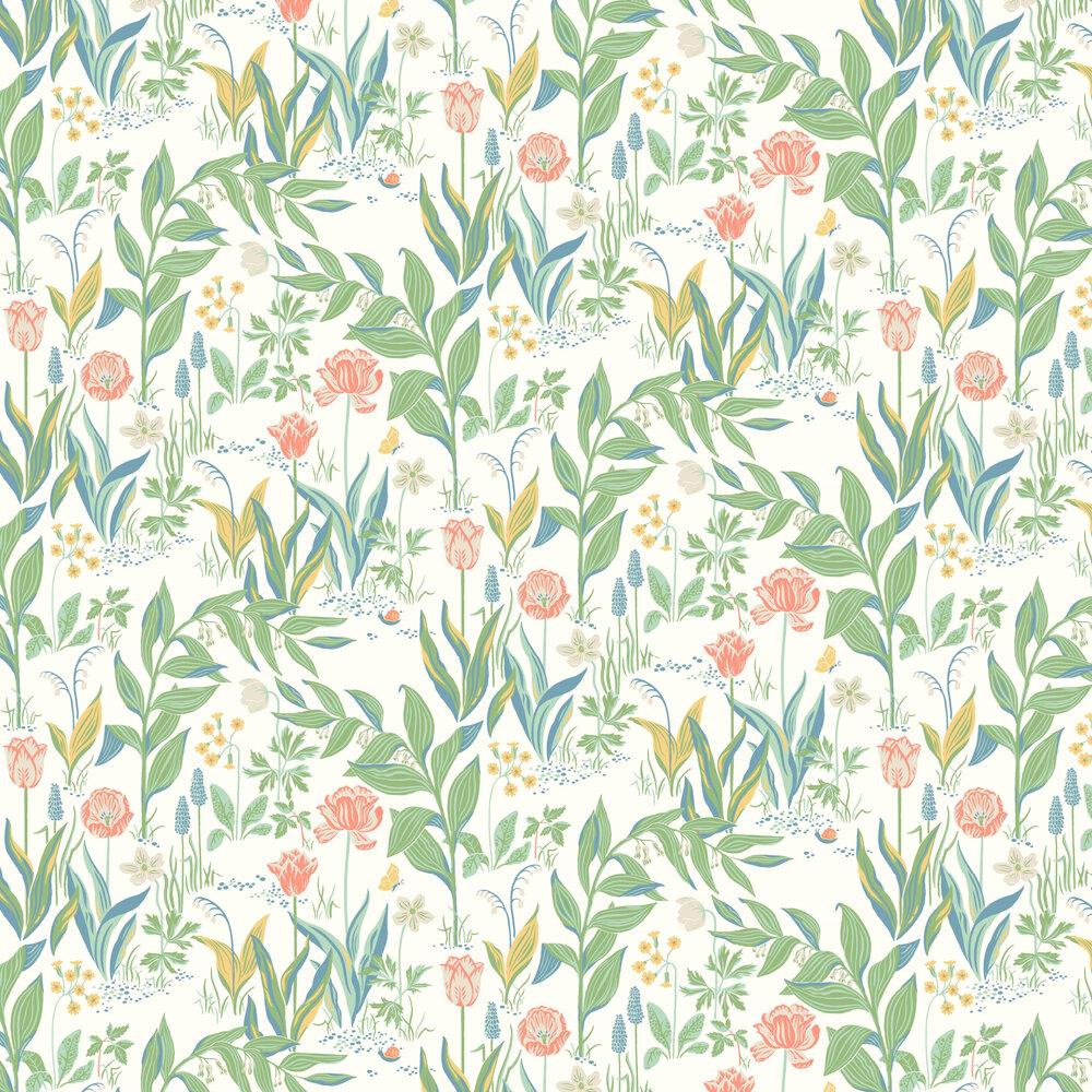 Spring Garden Wallpaper - Multi-coloured - by Boråstapeter