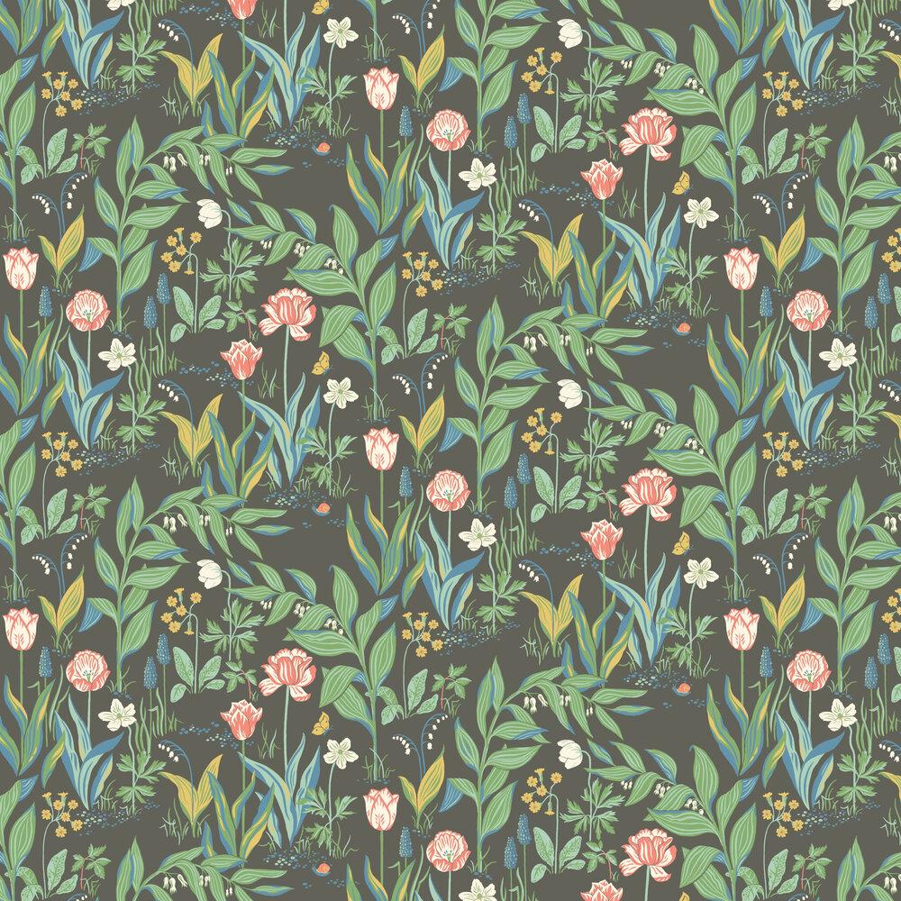 Boråstapeter Spring Garden Black  Wallpaper - Product code: 7219