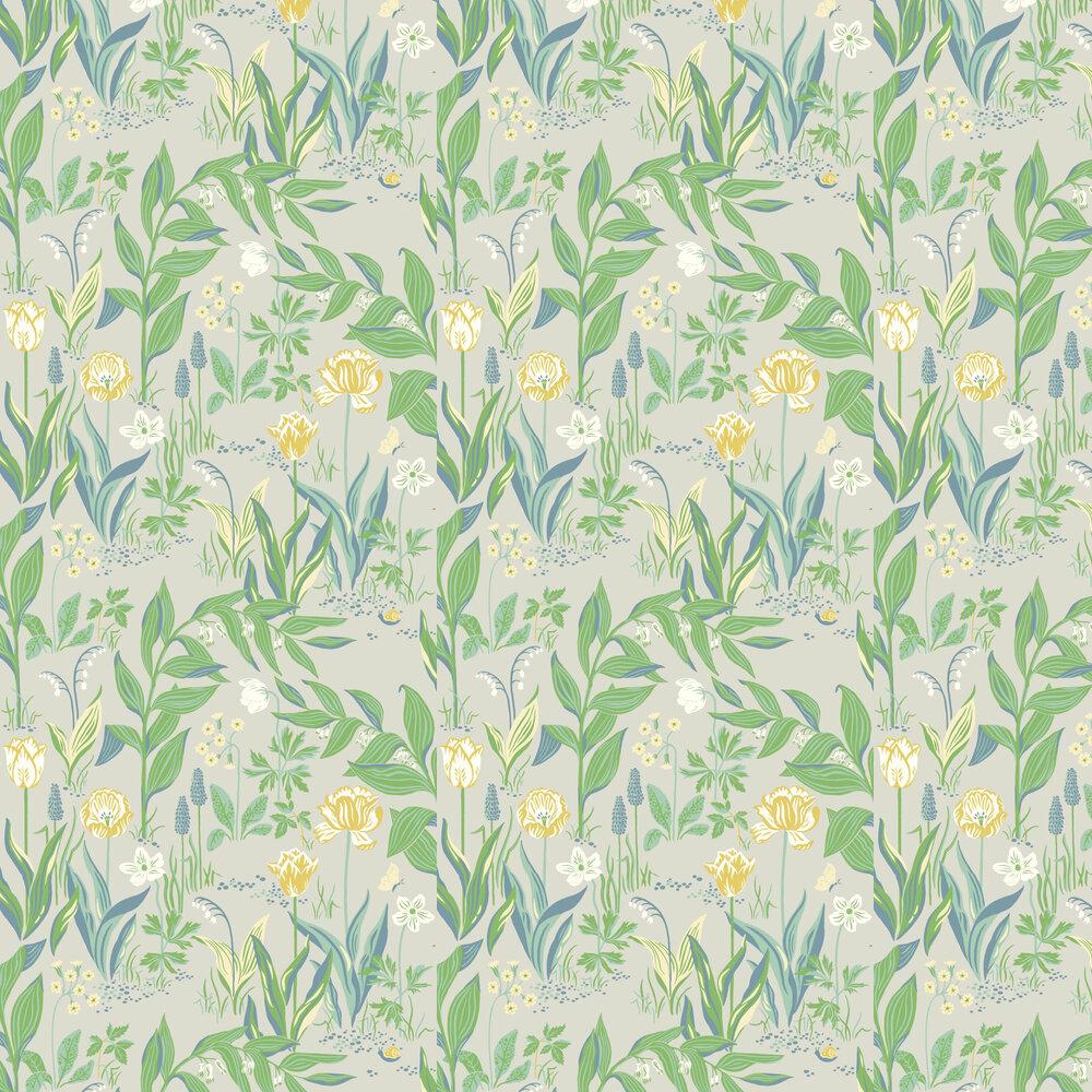 Spring Garden Wallpaper - Green - by Boråstapeter