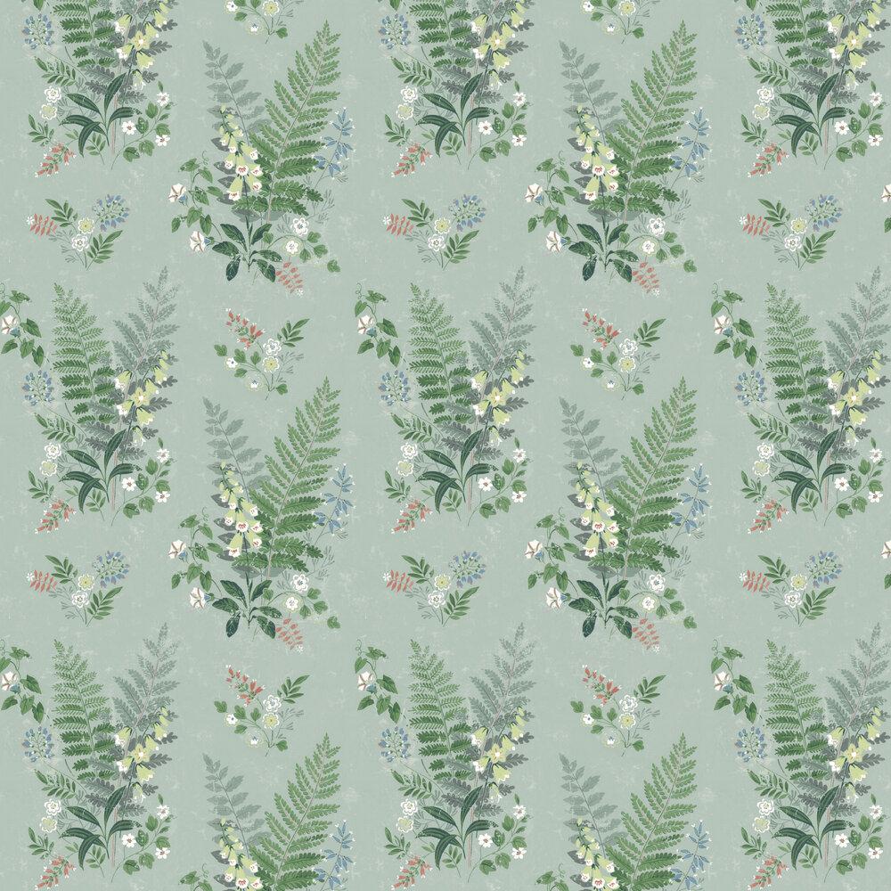 Foxglove Wallpaper - Green - by Boråstapeter