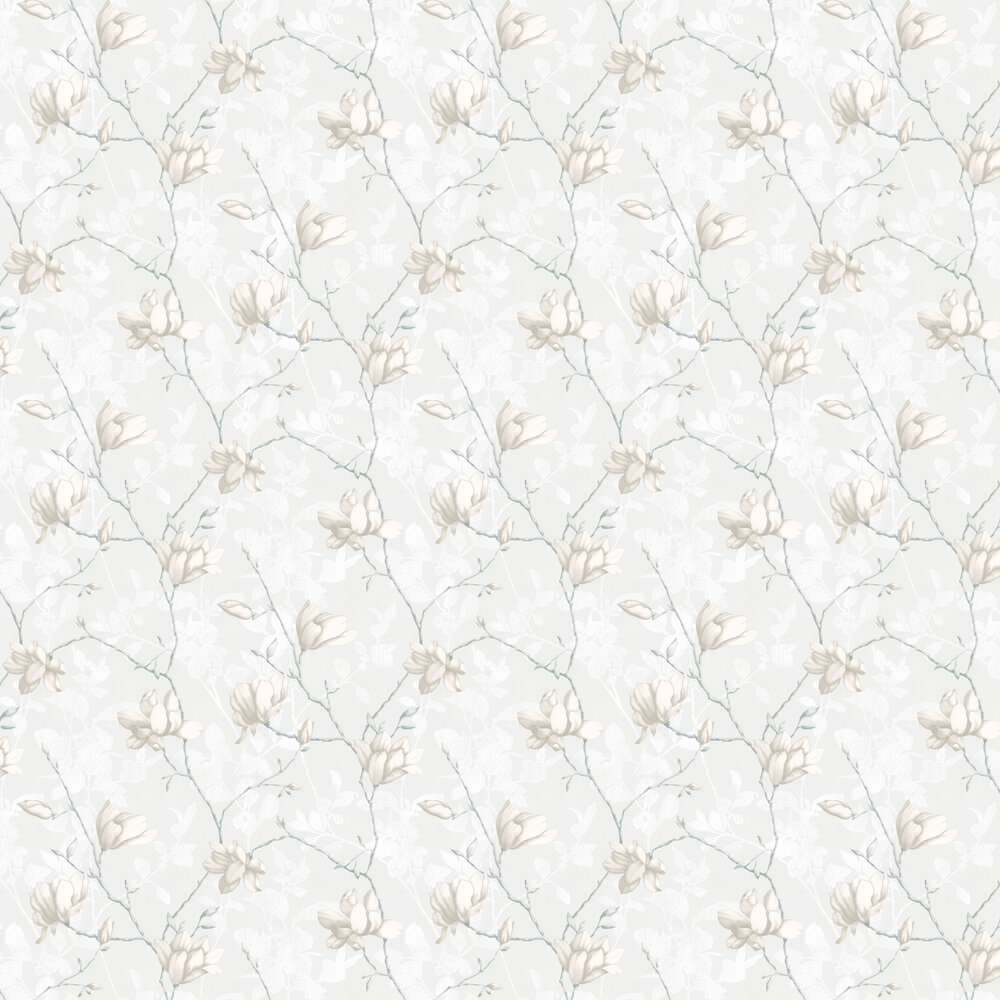 Boråstapeter Lilly Tree White Wallpaper - Product code: 7229