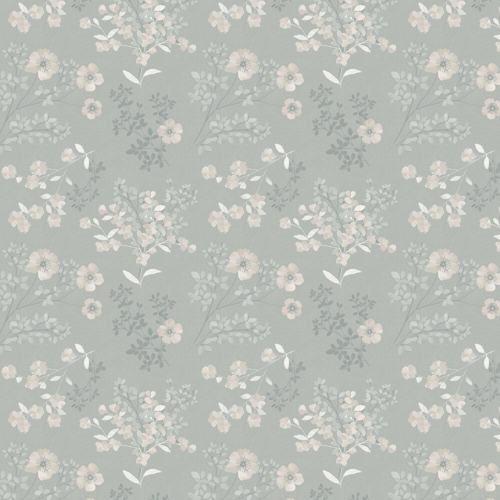 Boråstapeter Prairie Rose Silver Wallpaper - Product code: 7233