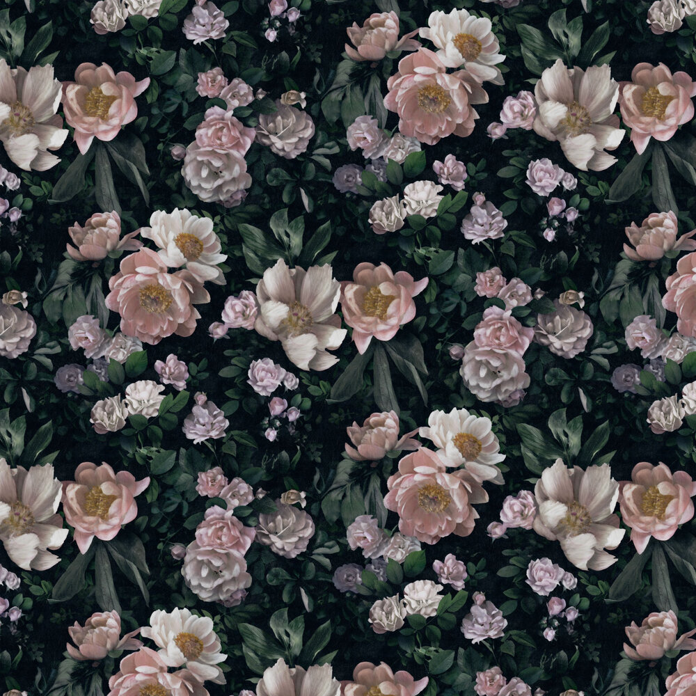 Boråstapeter New Dawn Rose Black Wallpaper - Product code: 7234