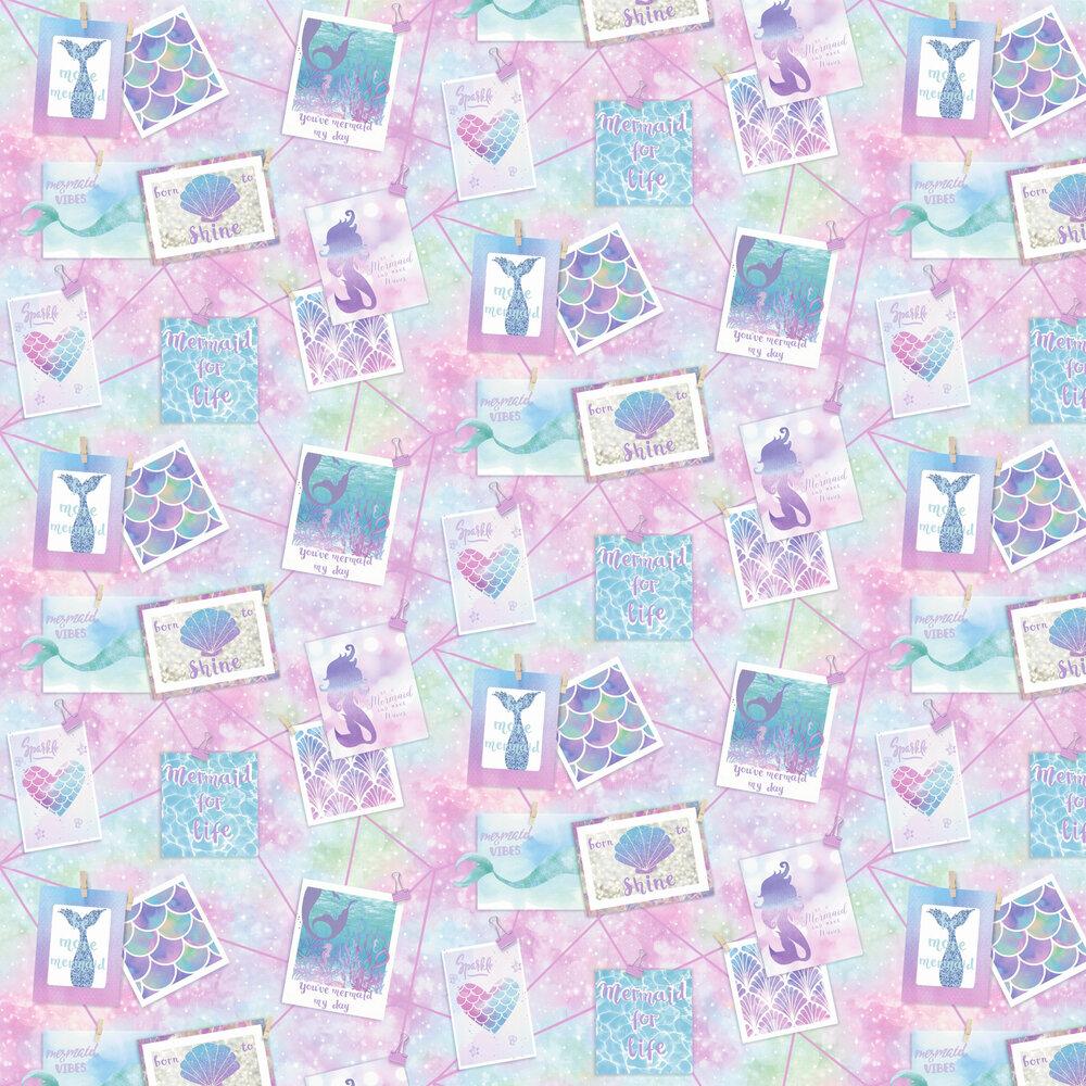 Be More Mermaid Glitter Wallpaper - Multi - by Albany