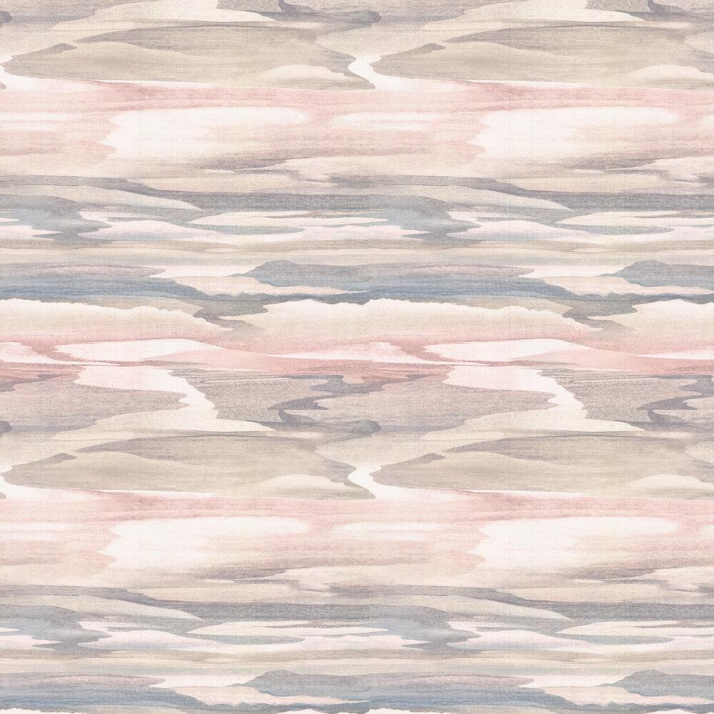 Cloudscape Wallpaper - Pink - by Jane Churchill