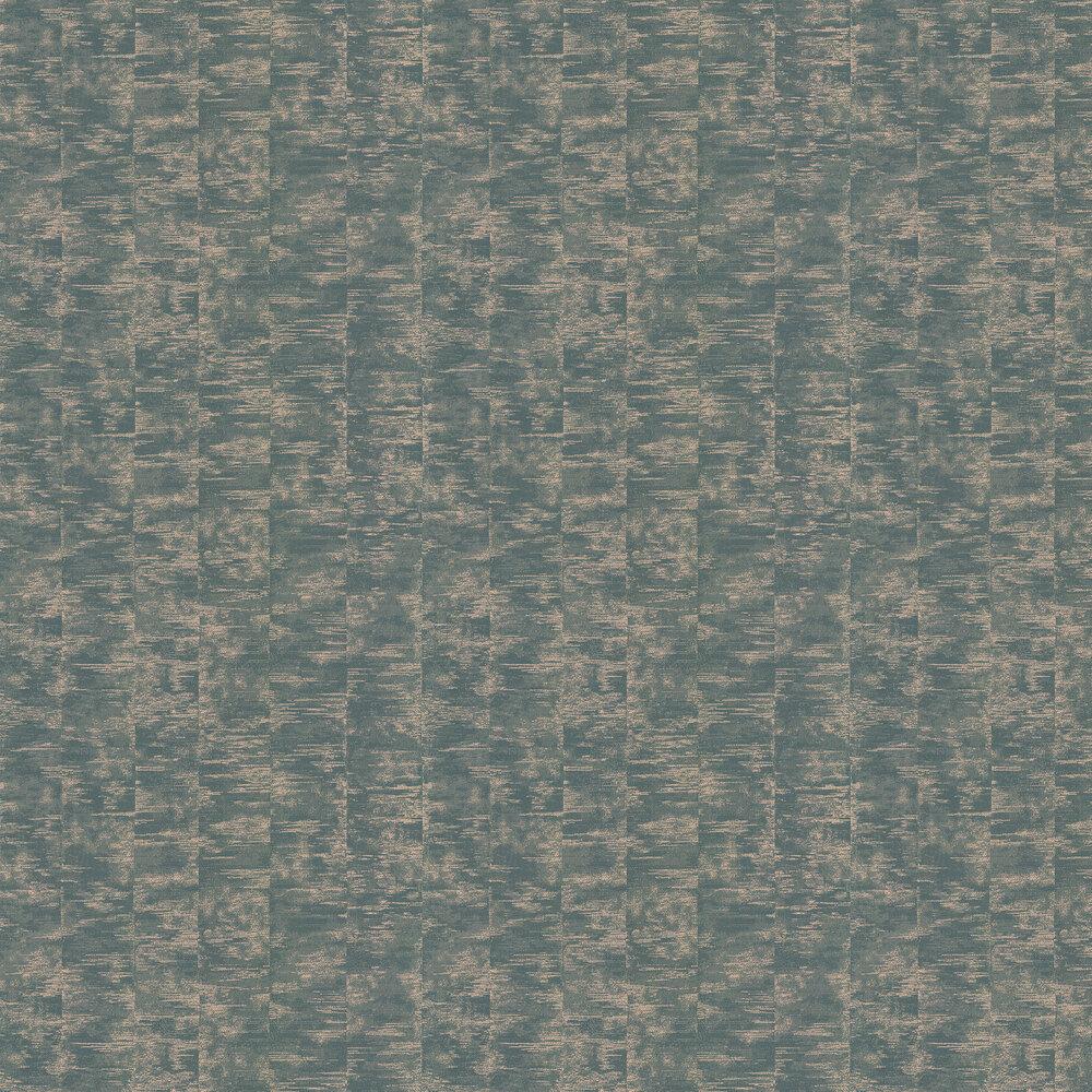 Morosi Wallpaper - Teal - by Jane Churchill