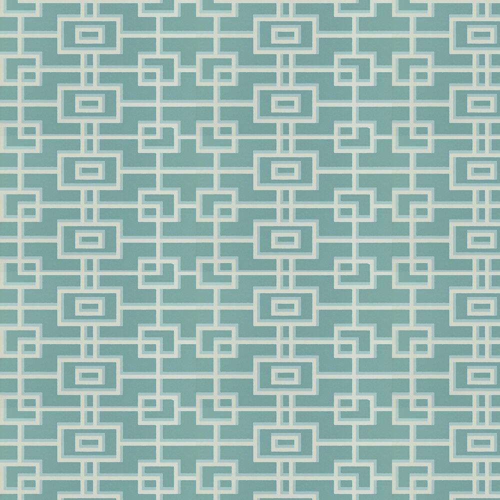 Rheinsberg Wallpaper - Teal - by Designers Guild