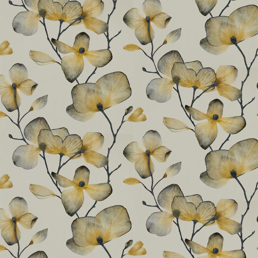 Kienze Wallpaper - Ochre / Steel - by Harlequin