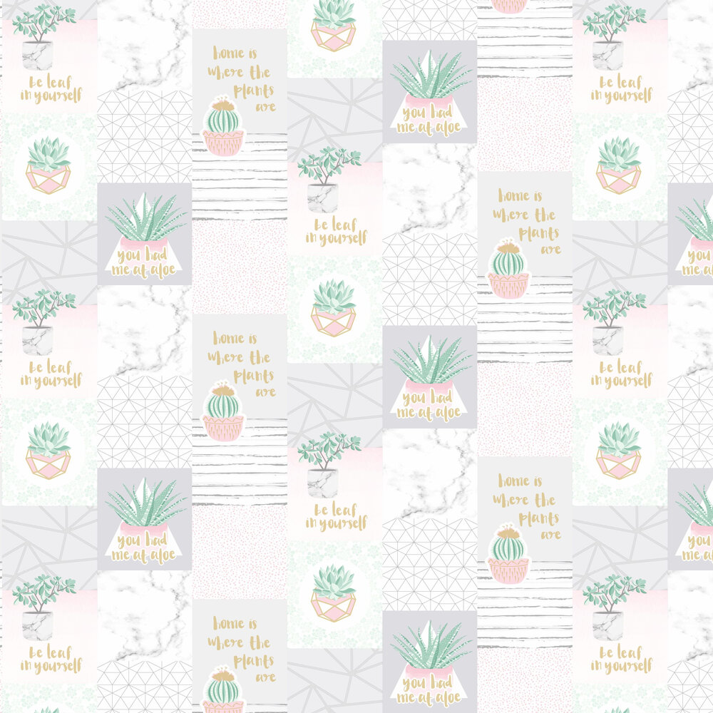 You Had Me at Aloe Wallpaper - Multi - by Holden Decor