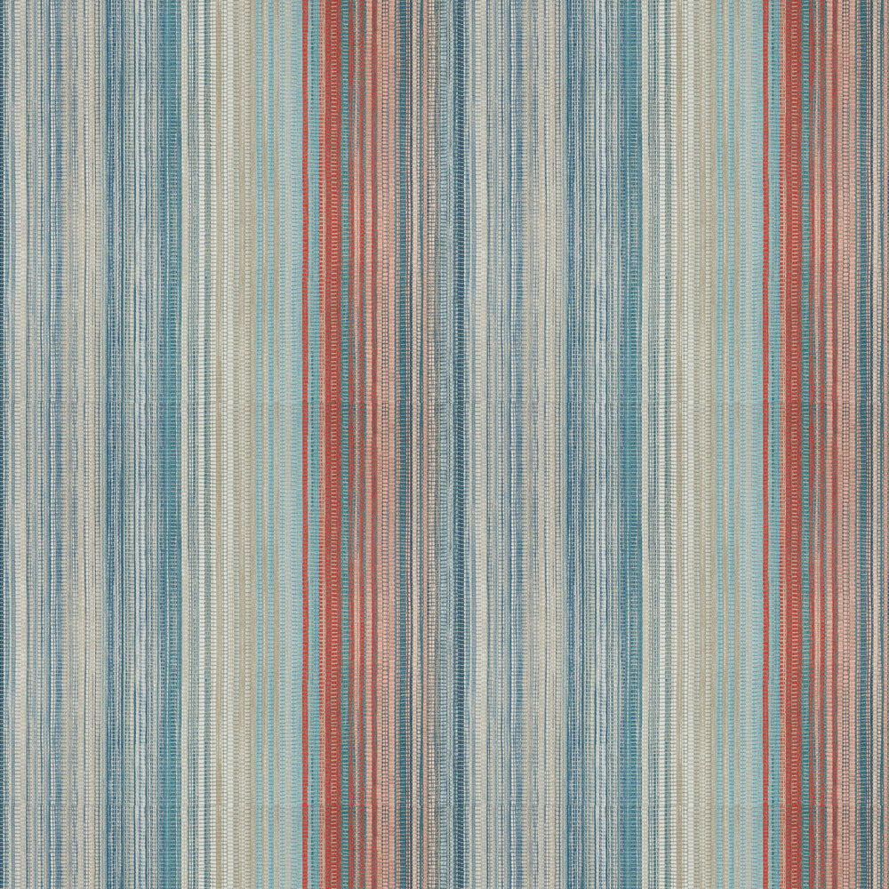 Spectro Stripe Wallpaper - Teal / Sedona / Rust - by Harlequin