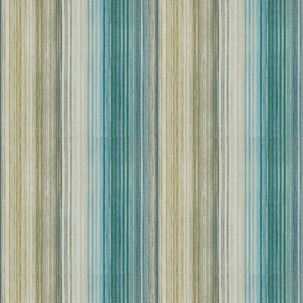 Spectro Stripe Wallpaper - Emerald / Marine - by Harlequin
