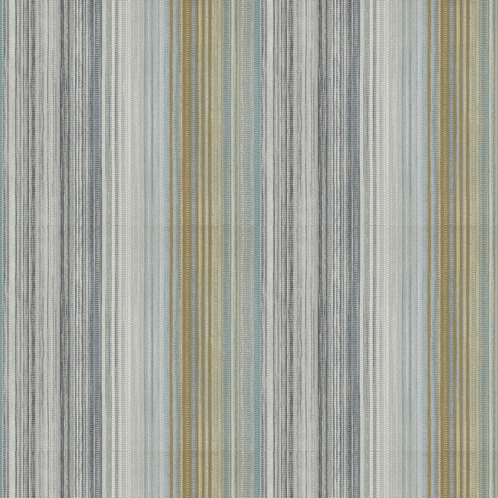 Spectro Stripe Wallpaper - Lichen / Graphite - by Harlequin