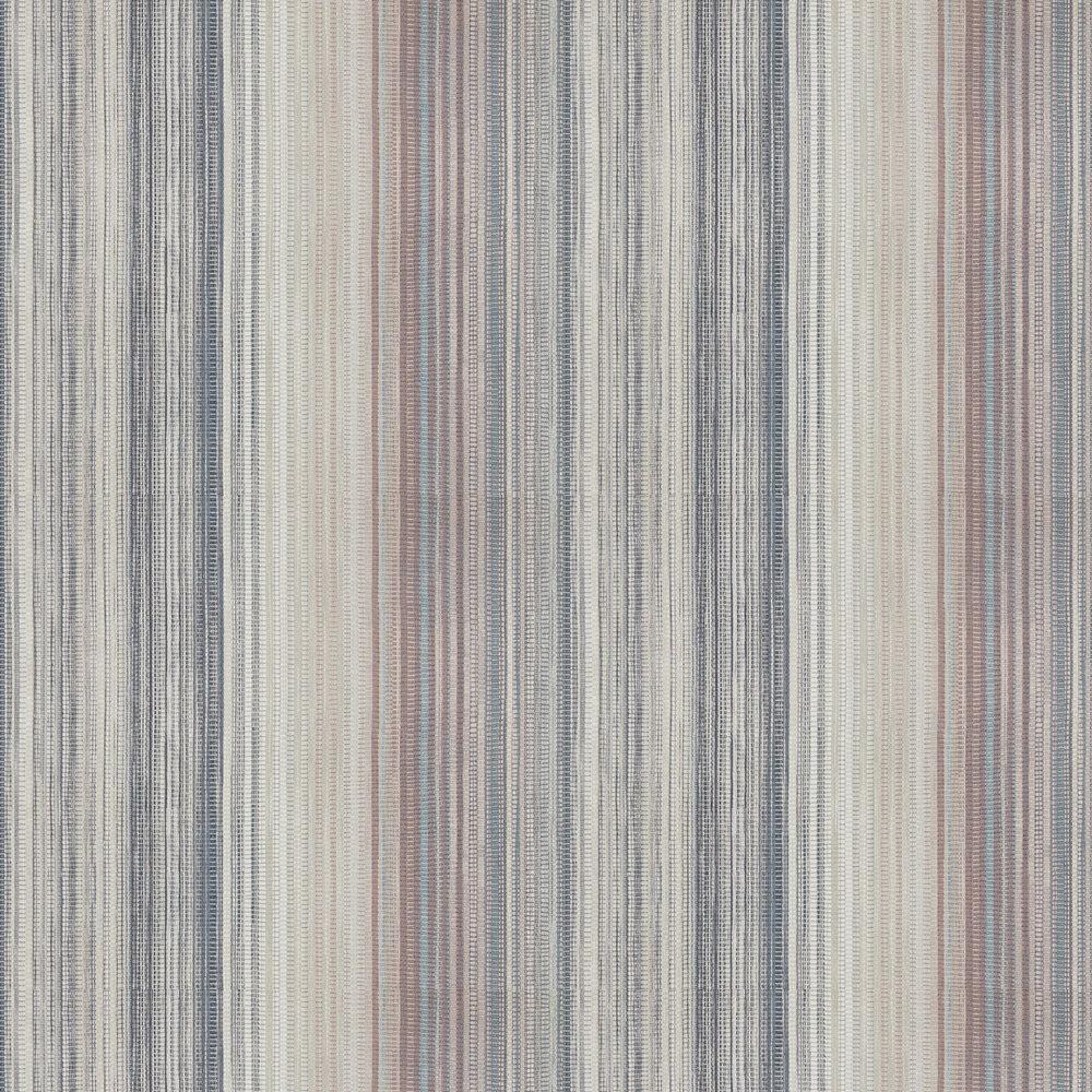 Spectro Stripe Wallpaper - Steel / Blush - by Harlequin