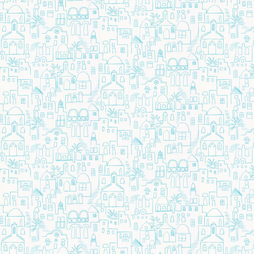 Teeny Santorini Wallpaper - Blue - by Villa Nova