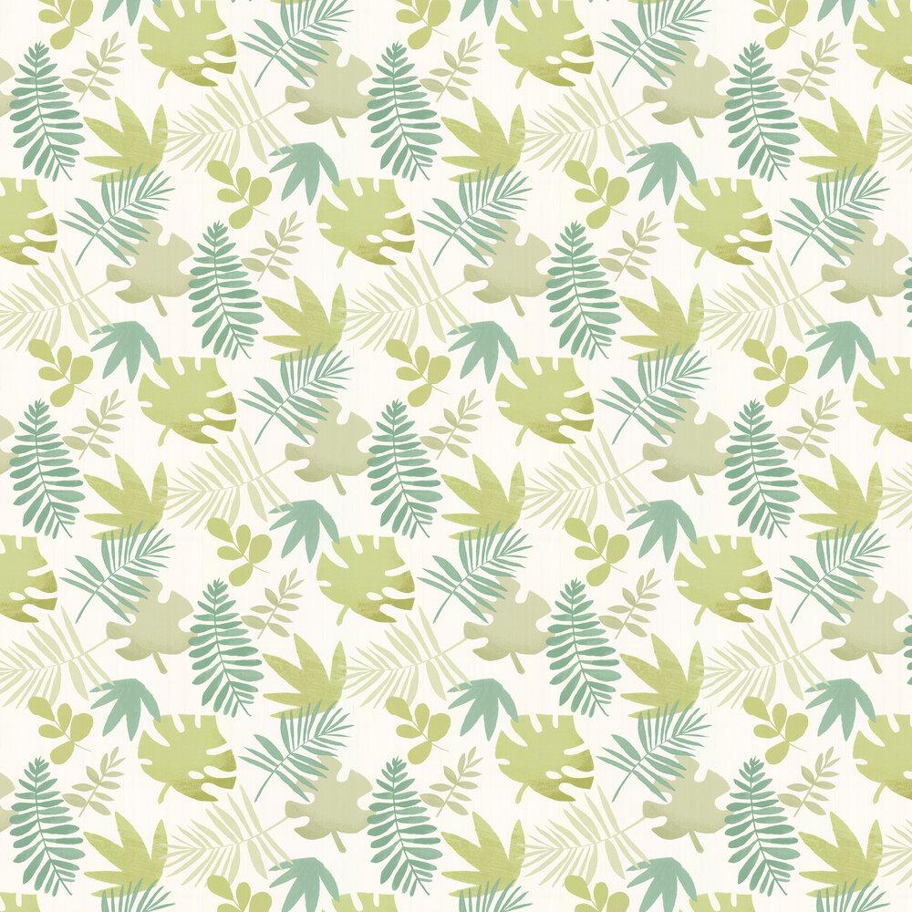 Jungle Jumble Wallpaper - Green - by Villa Nova