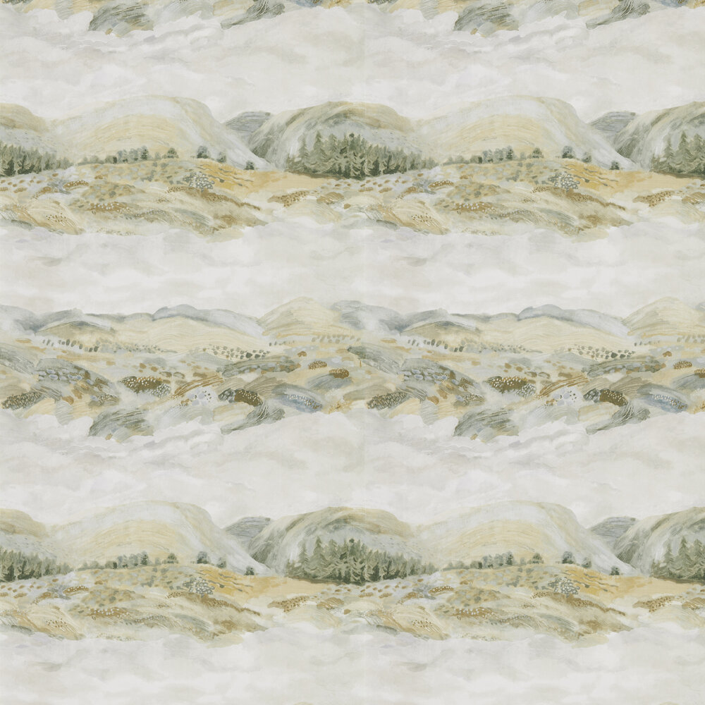 Elysian Wallpaper - Sage Grey - by Sanderson