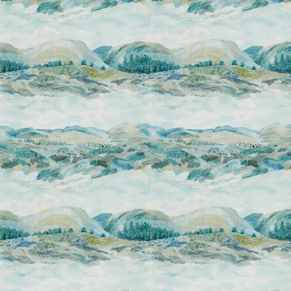 Elysian Wallpaper - Whistable Blue - by Sanderson