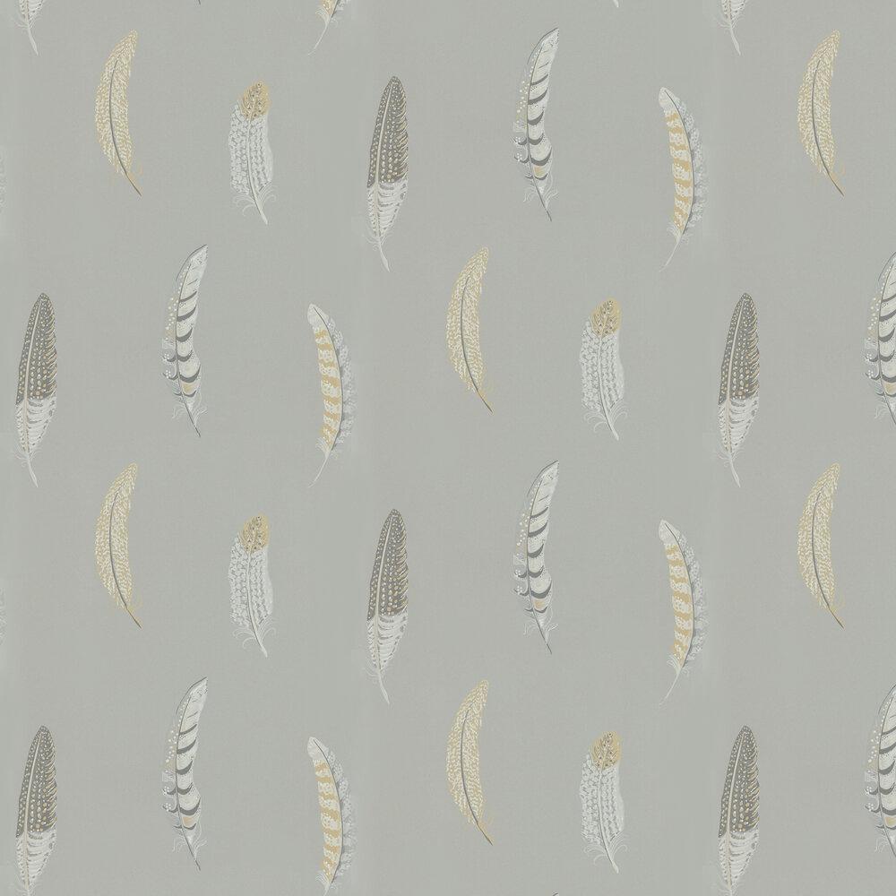 Lismore Wallpaper - Silver Grey - by Sanderson