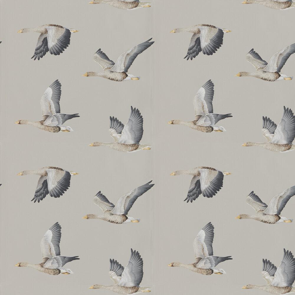 Sanderson Elysian Geese Gilver Wallpaper - Product code: 216611