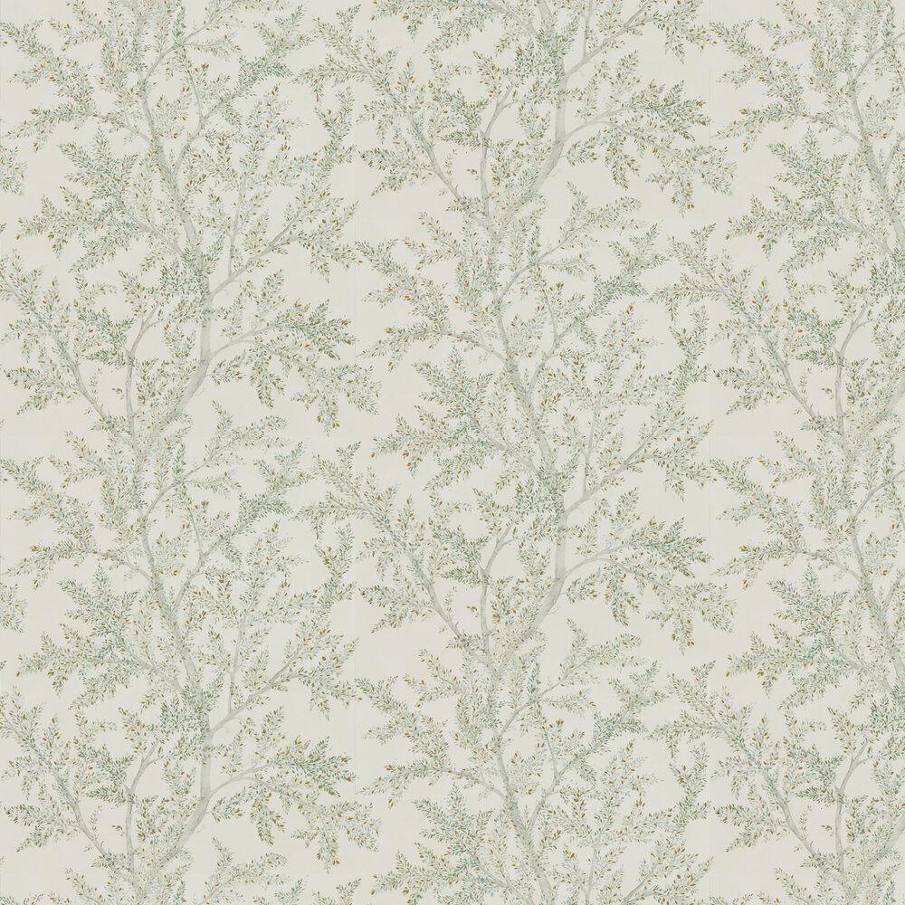 Farthing Wood Wallpaper - Sage Grey - by Sanderson