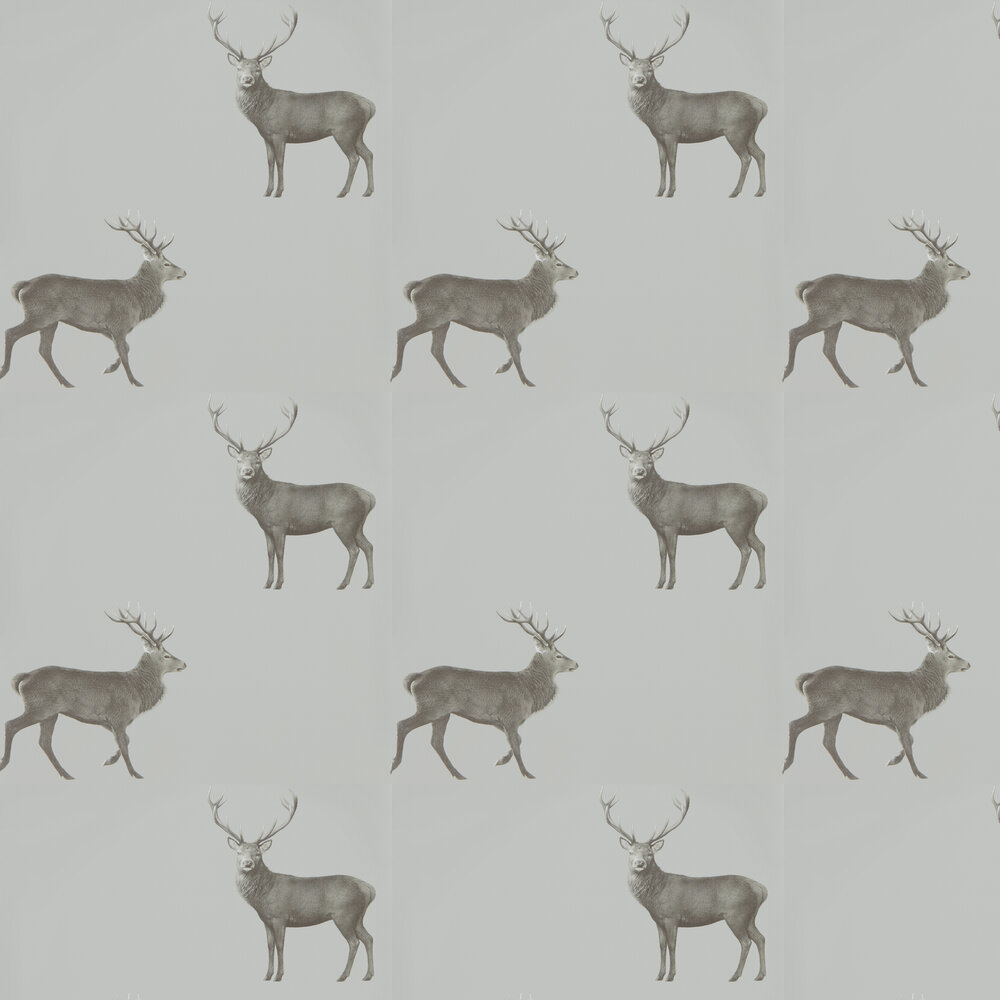 Sanderson Evesham Deer Silver Grey Wallpaper - Product code: 216619
