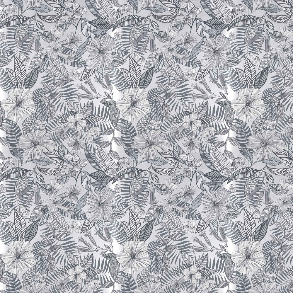 Matthew Williamson Valldemossa Black/ White/ Silver Wallpaper - Product code: W7260-05