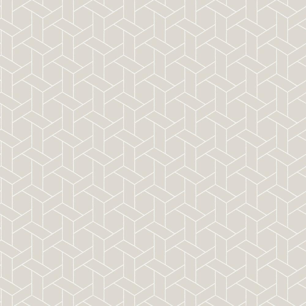 Focale Wallpaper - Warm Grey - by Casadeco
