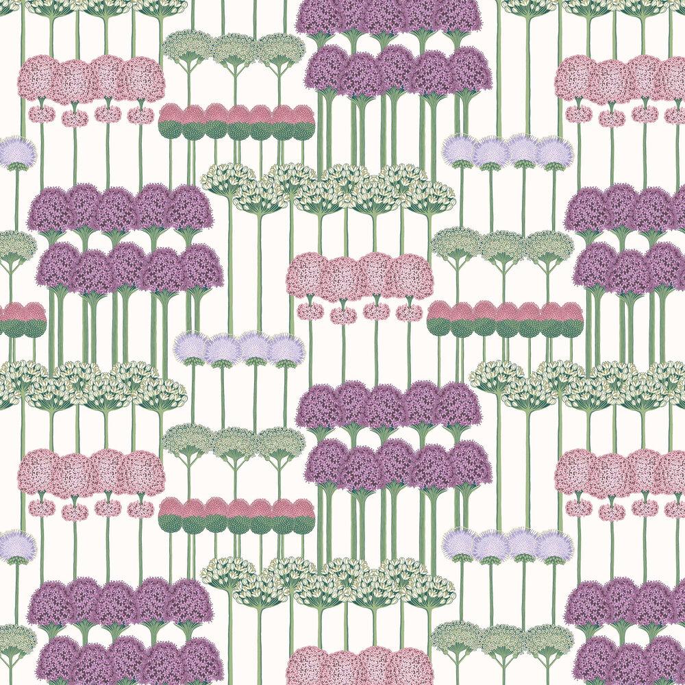 Cole & Son Allium Mulberry / Blush / Lilac Wallpaper - Product code: 115/12034