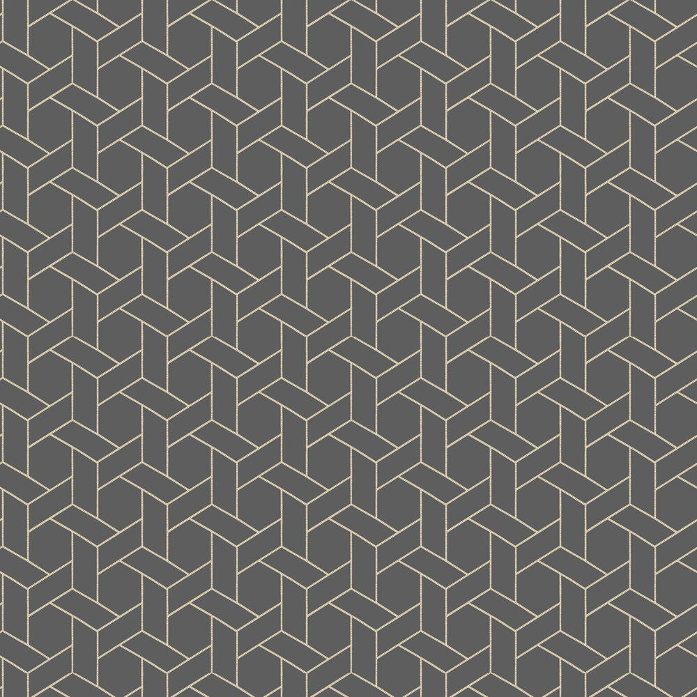 Focale Wallpaper - Charcoal - by Casadeco