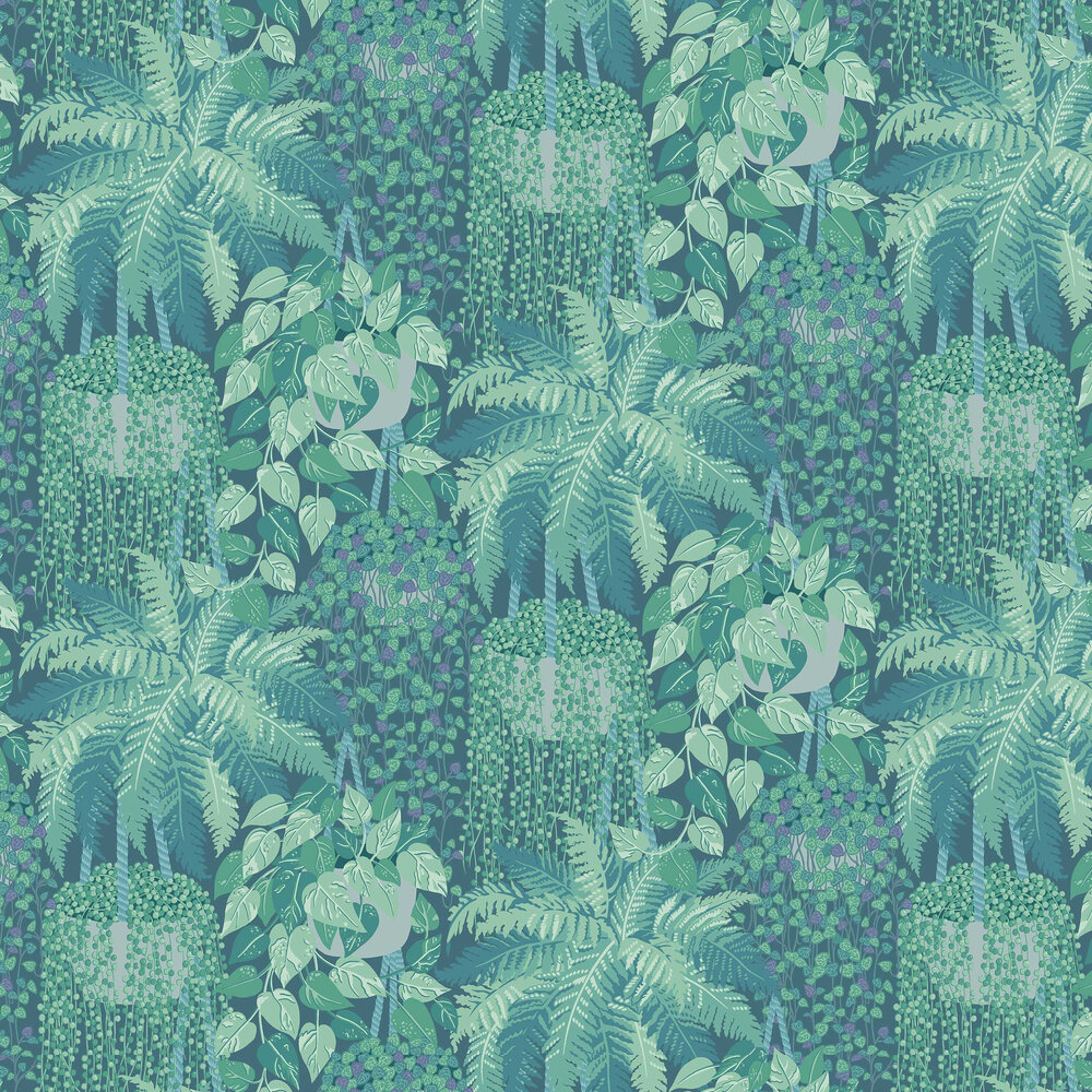 Fern Wallpaper - Viridian / Teal - by Cole & Son