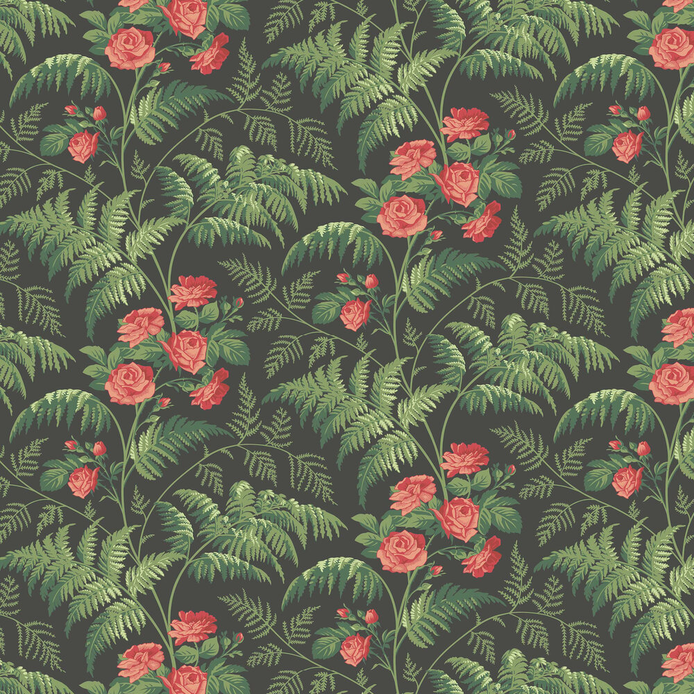 Cole & Son Rose Red / Leaf Green Wallpaper - Product code: 115/10030