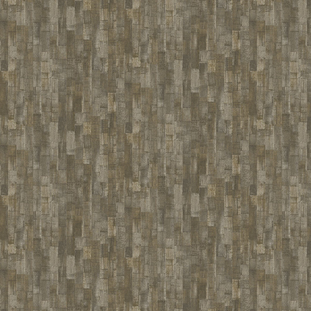 Shoreditch Wallpaper - Moss Green Brown - by Casadeco