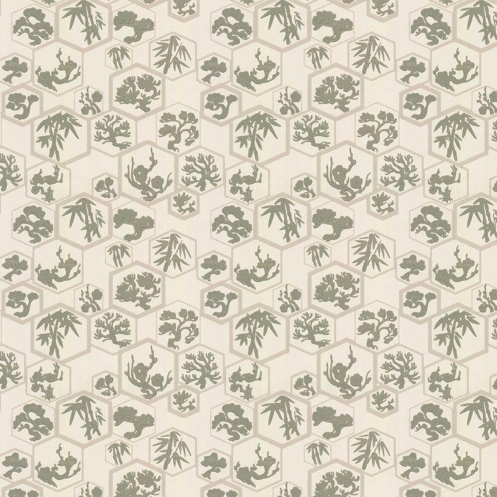 Farrow & Ball Shouchikubai  Treron / Jitney Wallpaper - Product code: BP 4506
