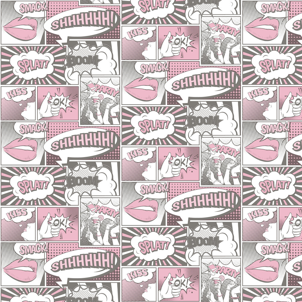 Galerie Cartoon Pink / Black Wallpaper - Product code: 5651
