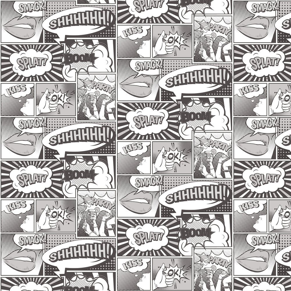 Galerie Cartoon Black and White Wallpaper - Product code: 5652