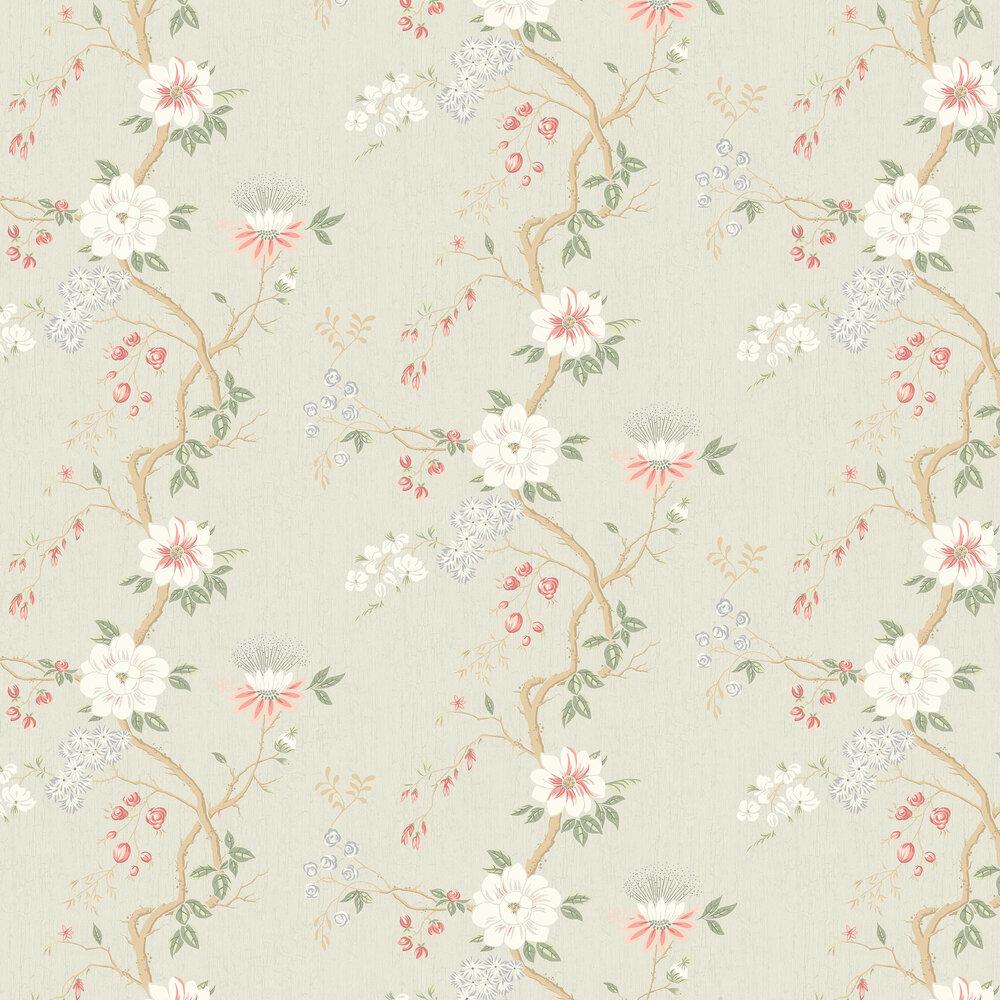Cole & Son Camellia Coral / Duck Egg / Eau de Nil Wallpaper - Product code: 115/8024